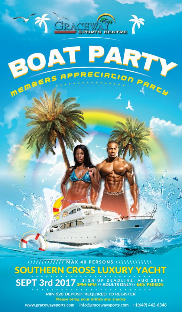 Boat party small poster